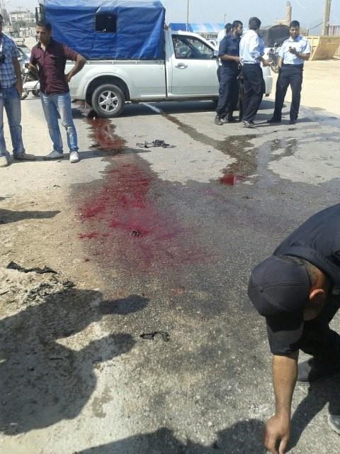 صور : اغتيال الشهيد هيثم المسحال غرب مدينة غزة 30-4-2013م