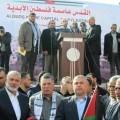 قيادة وكوادر لجان المقاومة في فلسطين تشارك في مليونية القدس على امتداد شارع صلاح الدين