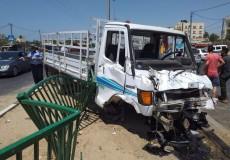 بالصور إصابات بحادث سير جنوب قطاع غزة
