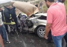 وفاة ثلاثة مواطنين من جنين في حادث سير مروع